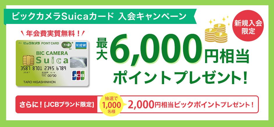 ビックカメラSuicaカード 入会キャンペーン:ビューカード