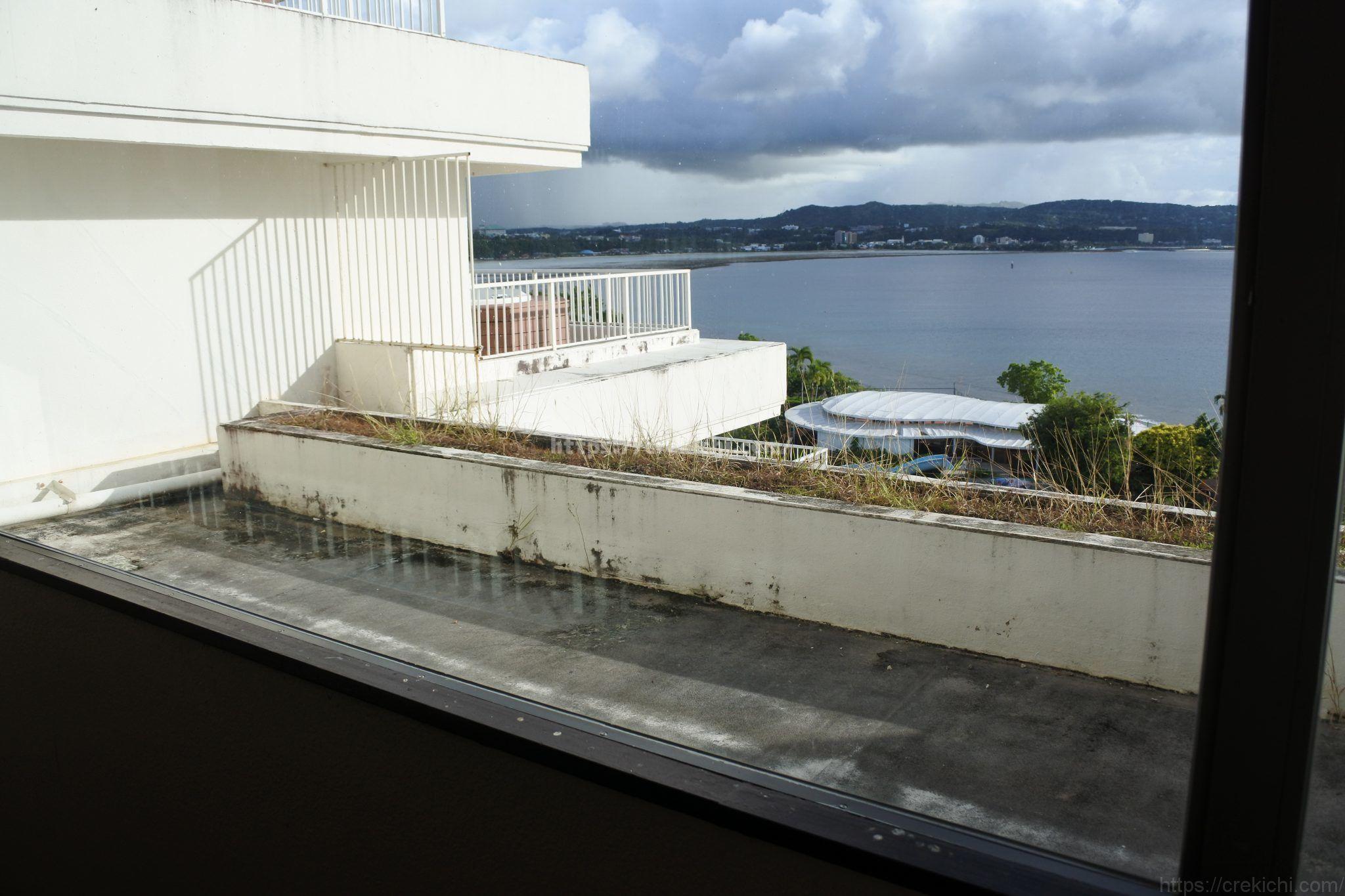 シェラトングアムの廊下からの眺め