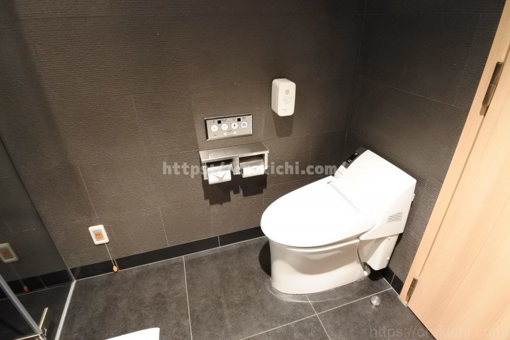 シャワールーム内のトイレ
