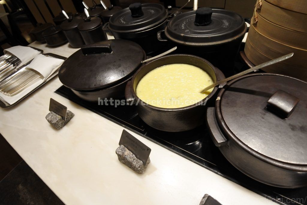朝食 アワビ粥